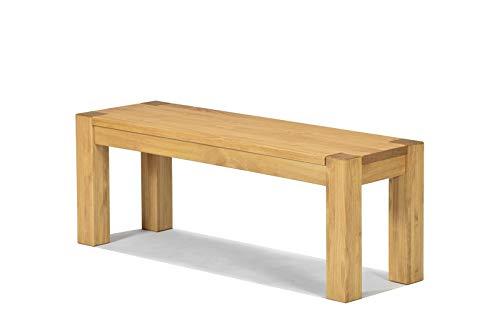 Naturholzmöbel Seidel Sitzbank Rio Bonito 100x38cm Bank Massivholz Pinie, geölt und gewachst, Farbton Honig hell, Optional: passende Tische