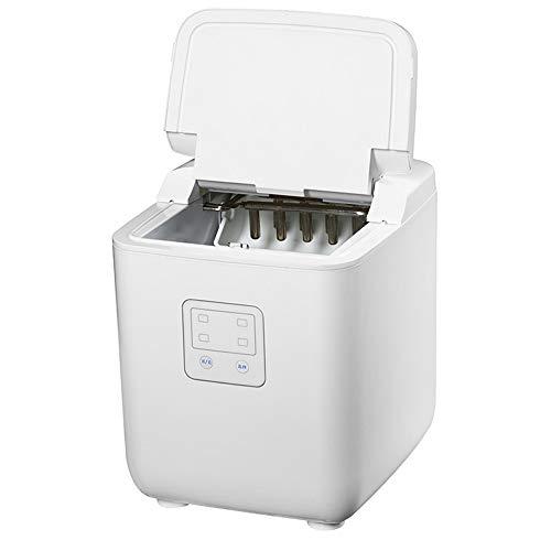 NBLL Einfach zu bedienende tragbare automatische Eismaschine mit Selbstreinigungsfunktion, weiß, Edelstahl, geeignet für Küche, Wohnzimmer, Getränke, Kaffee, Wasser usw.