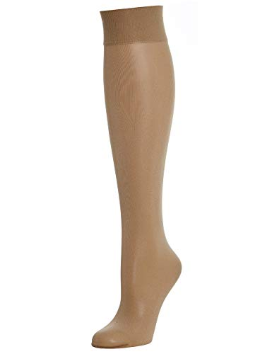 Wolford Satin Touch 20 Knee-Highs Calcetines altos, 20 DEN, 4467 Arena, M para Mujer