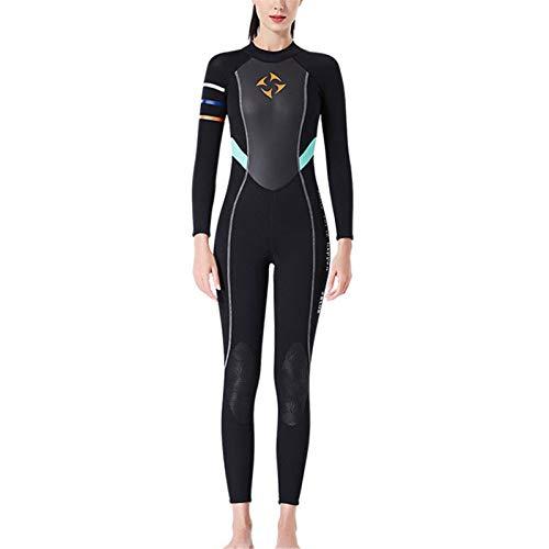 laoonl Traje de baño deportivo de surf, trajes de neopreno de 3 mm, con cremallera de manga larga para deportes acuáticos, buceo, natación, surf y surf