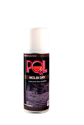 PQL MOLBI DRY - Lubricante seco de MoS2 400 ml - Lubricante de película seca de larga duración, homogénea y de gran adherencia a cualquier tipo de superficie.