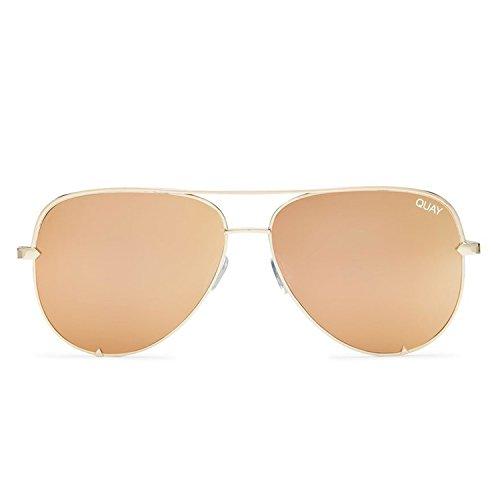Quay Australia High Key Gafas de sol, Dorado (Gold/Gold), 150 Unisex Adulto