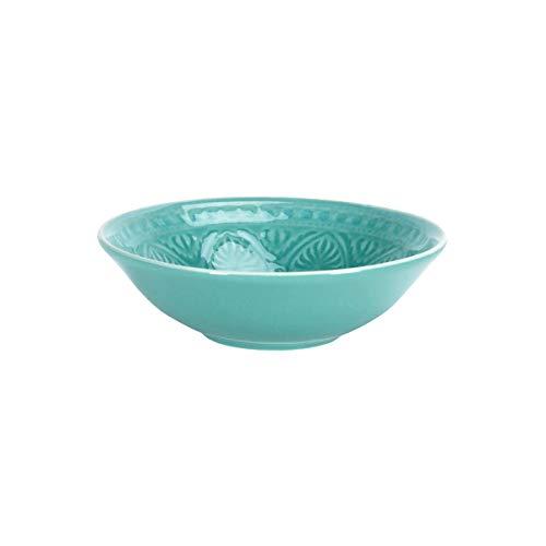 BUTLERS SUMATRA Schale - Schöne Keramik- Schale in Türkis mit Muster Ø 14 cm Sumatra Schale in vier verschiedenen Farben