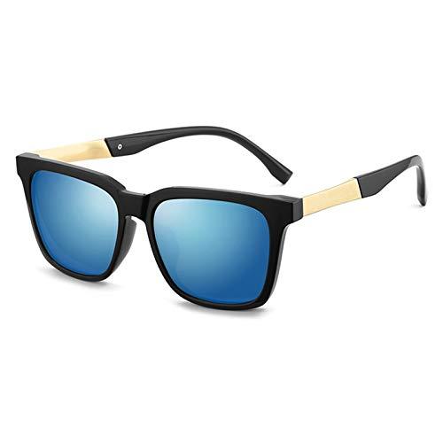 SSN Gafas De Sol Hombres Gafas De Sol Polarizadas Tendencia Caja De Ojos GM Pesca Cuadrada Conducción Gafas Especiales (Color : D)