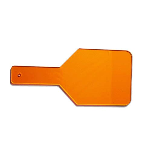 Dental Clinic Eye-Protector Curing Light Shield Hand Shield Plate Orange