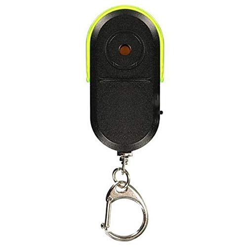 gxglhgsy Keychain Mini Anti-lost Whistle Key Finder Wireless Alarm Smart Tag Key Locator Keychain Tracker Whistle Sound LED Light Things Tracker (Color : Green)