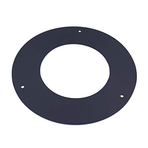 Tygerix - Rosetón universal de aluminio resistente al calor para estufas normales y de pellets Ø 100 mm, la parte superior