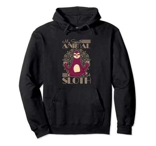 Il mio spirito animale è un bradipo Felpa con Cappuccio