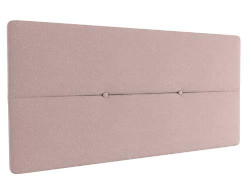 LA WEB DEL COLCHON - Cabecero tapizado Julie para Cama de 105 (115 x 55 cms) Rosa Palo Textil Suave