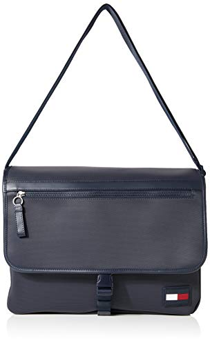 Tommy Hilfiger Herren Sport Pique Large Messenger Business Tasche, Blau (Sky Captain), 1x1x1 cm