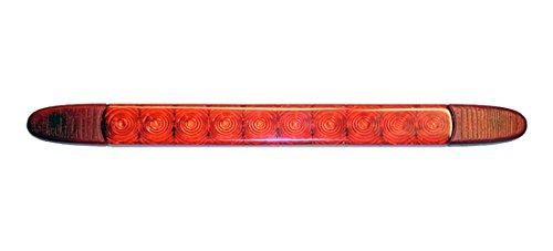 HELLA 2DA 343 106-211 Luz de freno adicional - LED - 24V - Color de tulipa: rojo - montaje exterior/pegado - Cable: 3000mm - Lado mont.: posterior