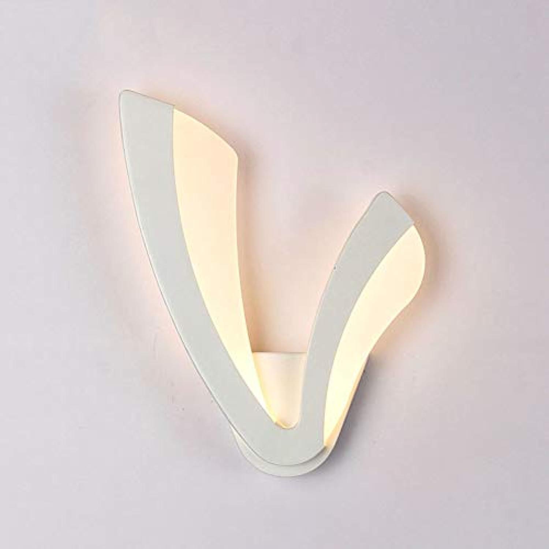 Einfache weie V-frmige Wandlampe LED-Acryl-Schlafzimmer-Nachttischlampe für linke und rechte Wandleuchte (Farbe   Weies Licht-8W Right)