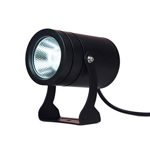 Waterdichte LED-buitenspot veiligheid schijnwerper schijnwerper geschikt voor bedrijf deurkop landschap gazon hotel terras dak 10 W, warm wit licht.