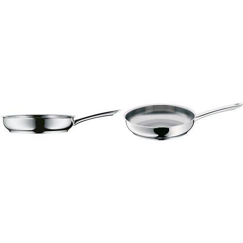 WMF Profi - Set de 2 sartenes 20 - 24 cm, cromargan acero inoxidable para todo tipo de cocinas incluida inducción