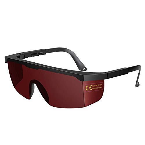 Auratrio SafeLightPro K9s Lichtschutzbrille Schutzbrille für die HPL/IPL Haarentfernung für Philips, Braun, Lapurete (Rot)