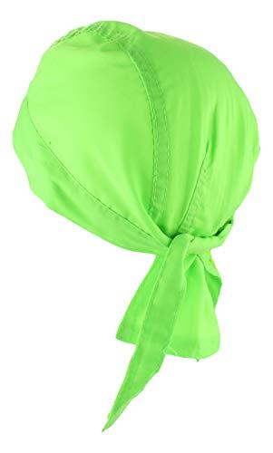 Alex Flittner Designs Bandana Cap unifarben limegreen