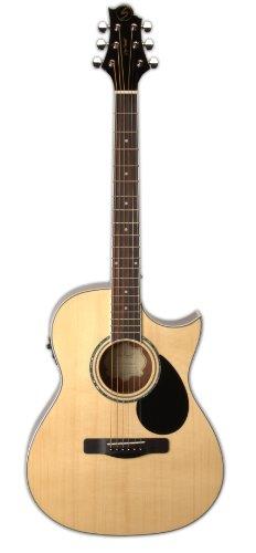Greg Bennett Design G Series 100 GA100SCE N Auditorium Acoustic-Electric Guitar, Natural
