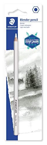 STAEDTLER 5426BLBK-C Blender Pencil (kleurloze houten potlood op wasbasis, voor het vervegen en afzuren van lijnen, blisterkaart met een blender)