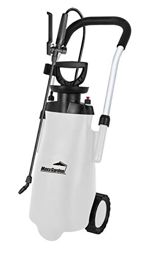 MaxxGarden - Pulverizador a presión para plantas y malas hierbas (12 litros) - Pulverizador móvil para plantas sobre ruedas - Práctica botella de riego para plantas - Herbicida (25 x 32 cm) bl