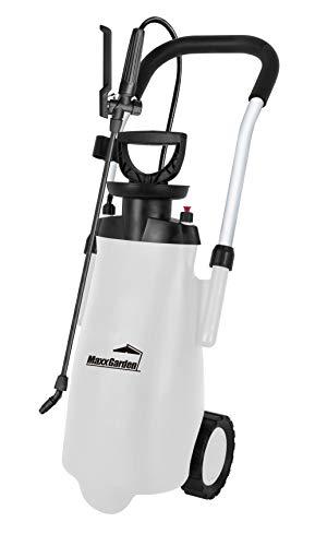 MaxxGarden - Pulverizador a presión para plantas y malas hierbas (12 litros) - Pulverizador móvil para plantas sobre ruedas - Práctica botella de riego para plantas -...