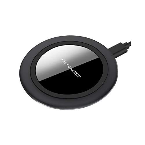 Rabbfay Portátil Inalámbrico Cargador, 10W Rápido Inalámbrico Cargando Almohadilla Compatible con iPhone 12 Pro / 12/11 Pro / 11 / XS/XS MAX/X / 8, Samsung Galaxy S20 / S10 / S10 +, etc