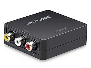 NUR AV ZU HDMI - Erweiterte Universalwandler für den analogen Composite-Eingang zum HDMI 1080P (60 Hz) -Ausgang. Erwecken Sie Videos zum Leben und liefern Sie die schärfsten und realistischsten verfügbaren HD-Bilder. GENIESSEN SIE DEN HD-VIDEOAUSGANG...