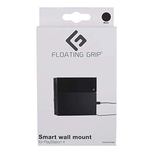 Wandhalterung für PlayStation 4 von FLOATING GRIP® - Zum Patent angemeldet durch FLOATING GRIP ApS - Made in Dänemark