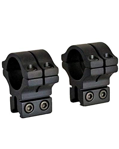 BKL 1 Rings, 3/8 or 11mm Dovetail, Double Strap, Matte Black by BKL