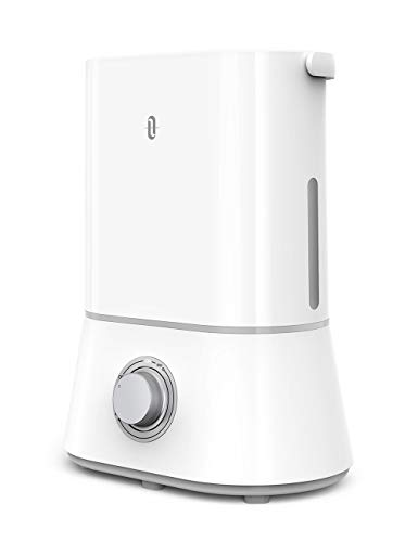 TaoTronics 26dB Quiet Humidifiers for Bedroom, 4L Ultrasonic Cool Mist Humidifier, 12-50 Hours, Easy to Clean, Nano-Coating, 360° Nozzle, Auto Shut-Off [Upgraded](White)