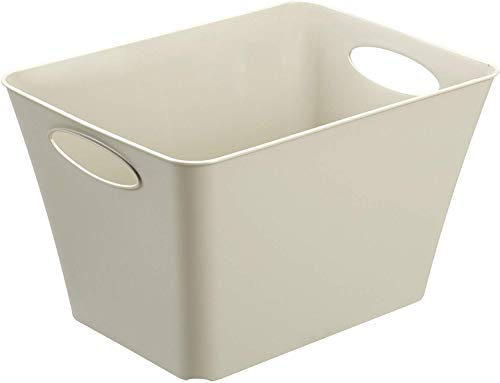 Rotho Living Aufbewahrungsbox 24l, Kunststoff (PP) BPA-frei, cappuccino, 24l (43,1 x 32,1 x 26,0 cm)