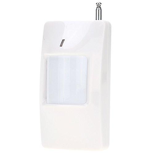 KKmoon Inalámbrico Detector de Movimiento PIR Infrarrojo 433MHZ Colgar en Pared LED Rojo Protección Seguridad para Hogar Oficina