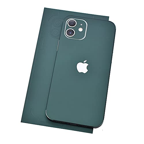 2pcs Change Color Decor Anti-Scratch Sticker Wrap Skin Compatible with iPhone 11 12 Pro Max (iPhone 12 Pro Max, Dark Green)