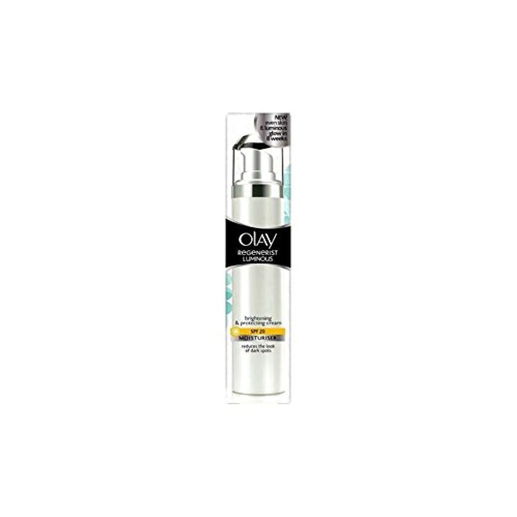 消防士エンドテーブルクアッガOlay Regenerist Luminous Day Cream Spf20 (50ml) (Pack of 6) - オーレイリジェネ発光デイクリーム20(50ミリリットル) x6 [並行輸入品]