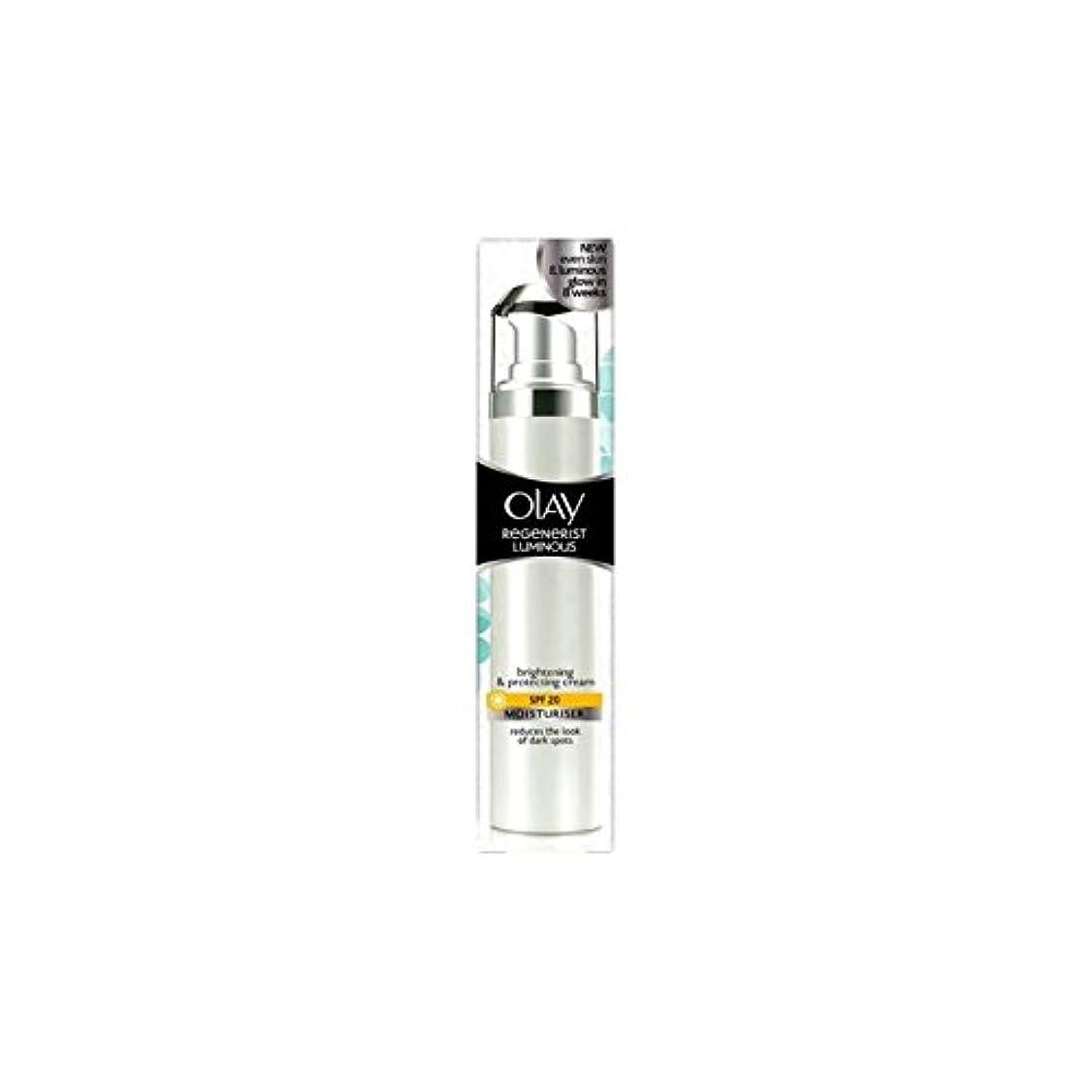 トレード長椅子褒賞Olay Regenerist Luminous Day Cream Spf20 (50ml) (Pack of 6) - オーレイリジェネ発光デイクリーム20(50ミリリットル) x6 [並行輸入品]