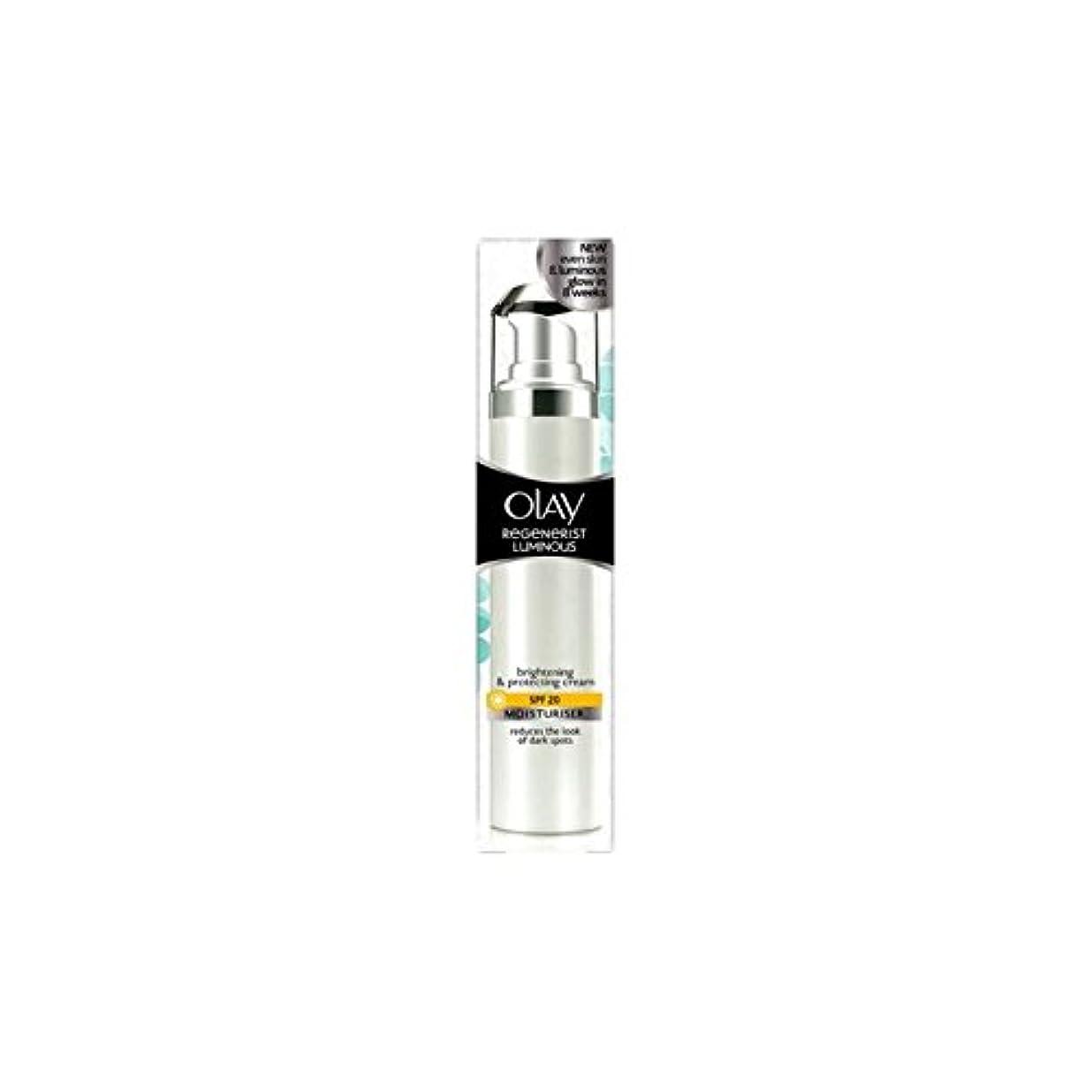 教育学タイプライターマークOlay Regenerist Luminous Day Cream Spf20 (50ml) (Pack of 6) - オーレイリジェネ発光デイクリーム20(50ミリリットル) x6 [並行輸入品]
