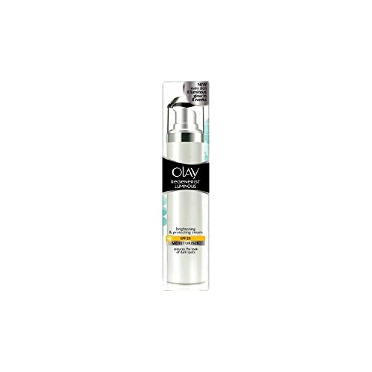 余暇なめらかなジェムオーレイリジェネ発光デイクリーム20(50ミリリットル) x2 - Olay Regenerist Luminous Day Cream Spf20 (50ml) (Pack of 2) [並行輸入品]