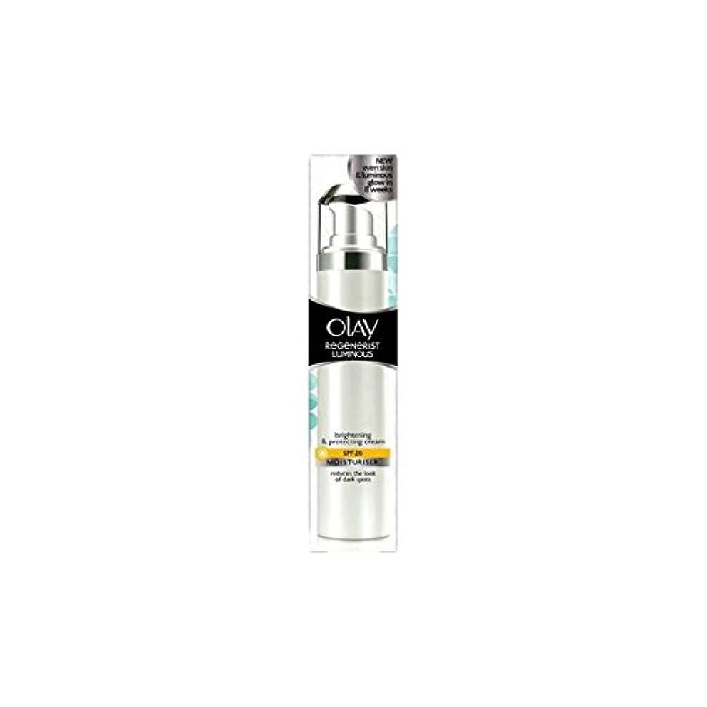 圧縮する非難するどちらもオーレイリジェネ発光デイクリーム20(50ミリリットル) x4 - Olay Regenerist Luminous Day Cream Spf20 (50ml) (Pack of 4) [並行輸入品]