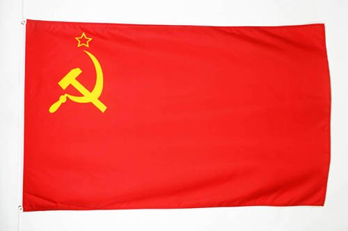AZ FLAG Bandera de la URSS 150x90cm - Bandera ROJA - Comunista – SOVIÉTICA - Rusia 90 x 150 cm poliéster Ligero