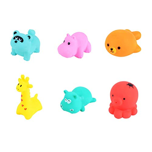 TOYANDONA 6 Stücke Baby Badespielzeug Kinder Infant Wasser Spielzeug Tierspielzeug Babywanne Spielzeug Quietschen Spielzeug