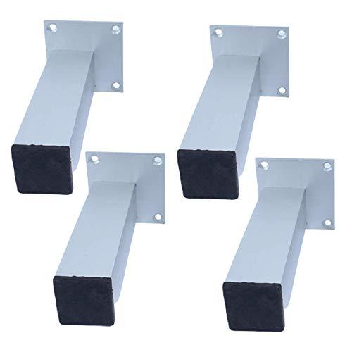 ACUIPP 4 Piezas de Patas de Sofá para Muebles Modernos, Patas de Metal para Muebles de Bricolaje, Patas de Cocina No Ajustables, Patas de Sofá de Aleación de Aluminio, Patas de Armario Cuadradas, par