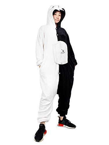 CoolChange Danganronpa Kigurumi | Monokuma Bär Jumpsuite | Schwarz/Weiß | Größe: M