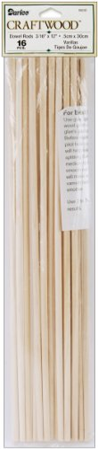 Darice 9162-02 Unfinished Natural Wood Craft Dowel Rod, 3/16-Inch