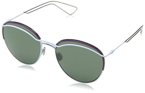 Dior DIOROUND 85 PRC Gafas de sol, Azul (Light Blue/Grey Green), 57 para Mujer
