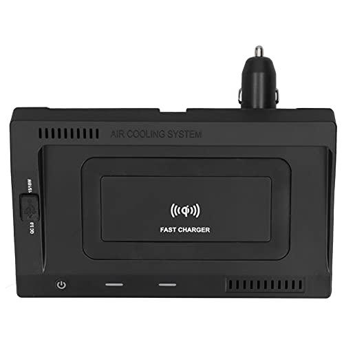 minifinker Soporte de Carga inalámbrica rápida de 15 W, Cargador inalámbrico para automóvil Simple y rápido Ahorre Espacio con Interfaz USB QC3.0 de 18 W para teléfonos móviles y Otros Dispositivos