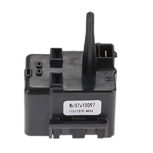 DRELD WR07X10097 Refrigerator Compressor Relay and Overload Assembly, Replaces # 1265640 AP4300623 2319794 61006022, Replacement for GE, Whirlpool, KitchenAid, Maytag