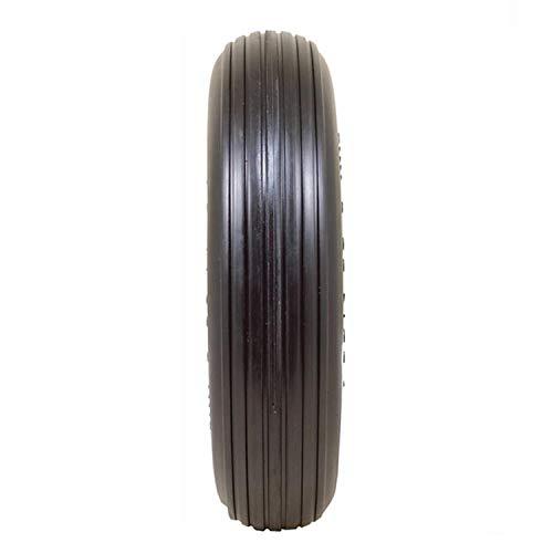 "Greneric 2-Pack of New Ribbed 3.50/2.50-8"" Flat Free Wheelbarrow/Cart Universal Wheel TX Warehouse"