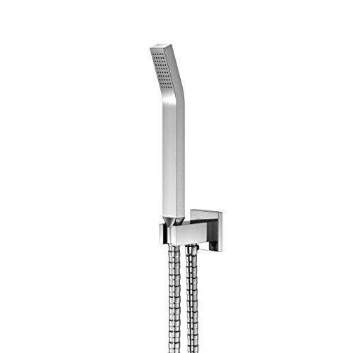 Steinberg 120 1670 Hoogwaardige, hoogglans gepolijste handdouchegarnituur met geïntegreerde wandaansluitboog en metalen handdouche, chroom