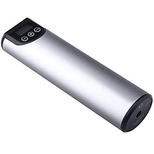 NINAINAI Inflator Inflador Neumático Inflador 12V Inalámbrico autopropulsado Mini Pump Pump Coche portátil Portable Pump (Color : Silver, Size : 20x5.5cm)