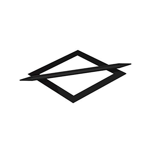 Flairdeco Raffspange mit Splint Modell Raute, Metall, Schwarz