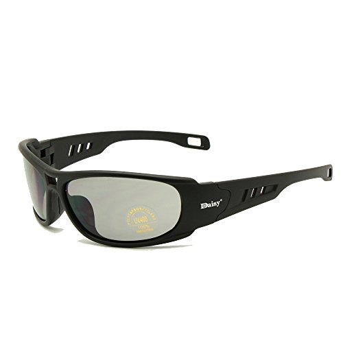 EnzoDate Daisy One C6 Polarisierte Ballistische Armee Sonnenbrille Militär Schutzbrille Rx Einsatz Kampf Krieg Spiel Taktische Gläser (schwarz, Nicht Polarisierten)